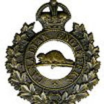 Badge– Cap Badge of the Canadian Engineers .  Spr Melville Aiken enlisted with the 134th Bn (48th Highlanders of Canada), but was transferred to the Canadian Engineers as a reinforcement.  Submitted by Capt S. Gilbert, 15th Bn Memorial Project team.  DILEAS GU BRATH