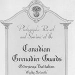 Memorial Book– In memory of the men who served with the 87th Battalion CEF. Submitted for the project, Operation: Picture Me
