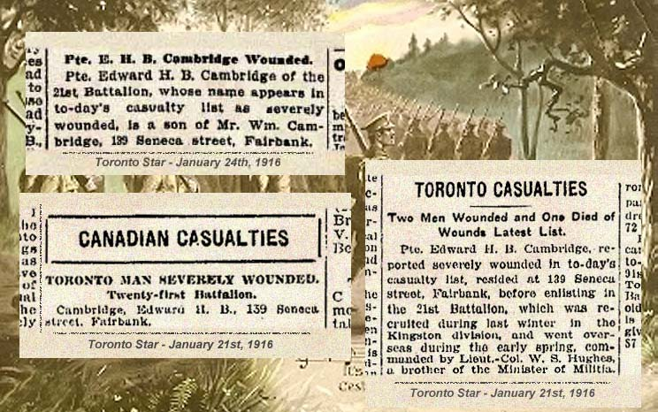 Newspaper clipping– Newspaper notices.