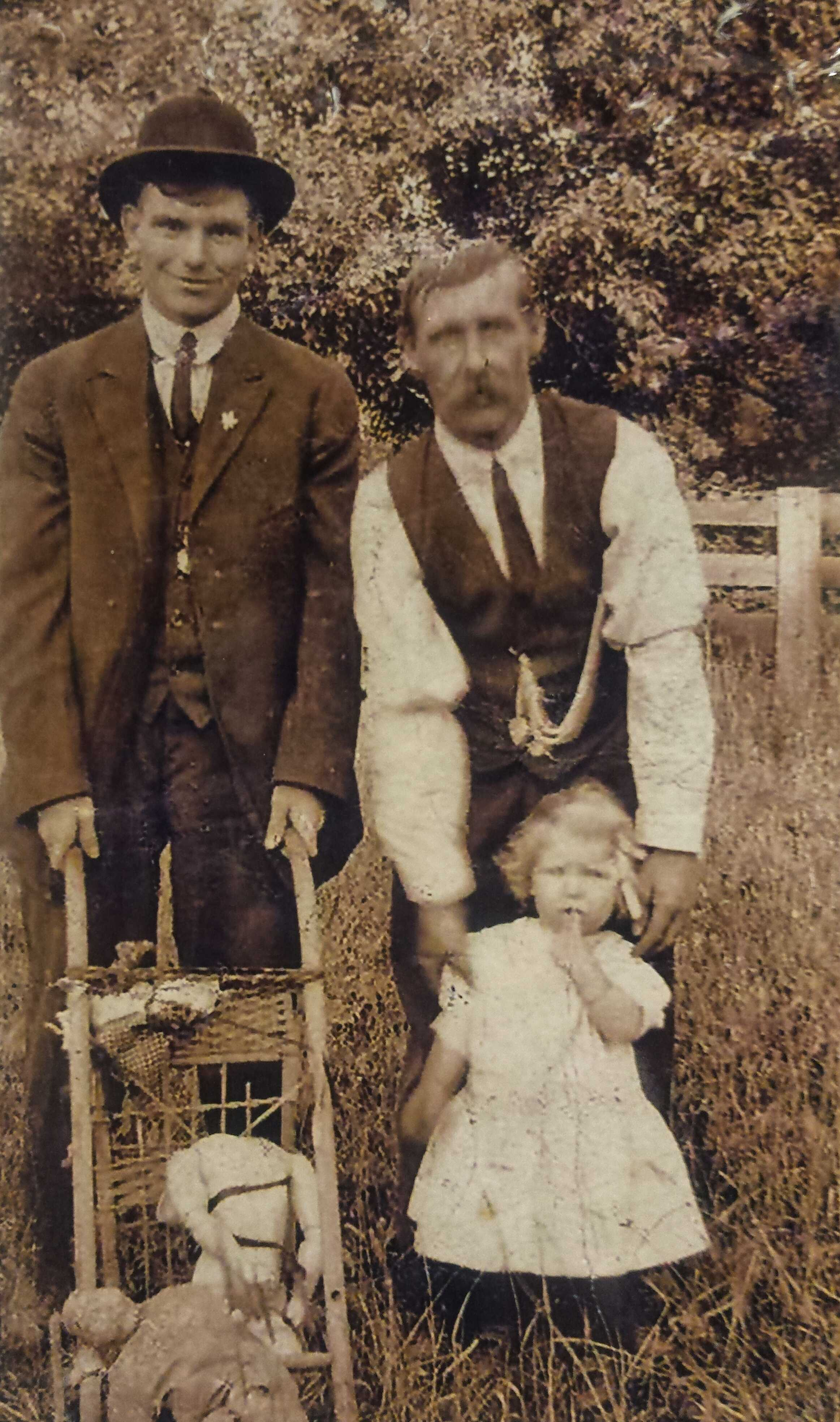 Photo of EDWARD HENRY BOSTOCK CAMBRIDGE– Last picture from home before leaving to serve in WW1 1916.