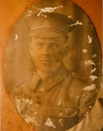 Photo of Frank Chamberlain– Frank David Chamberlain, an American from Nebraska, shortly after enlisting in Toronto in January 1918.  Age 21