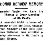 Newspaper Clipping– From the Toronto Star, December 2nd, 1918.