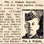 Photo of Andrew Habick– Pte. Andrew Habick is mentioned in this 1918 article about his brother.