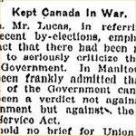 Coupure de presse – Source: The Toronto Star, 20 decembre 1918, page 12.