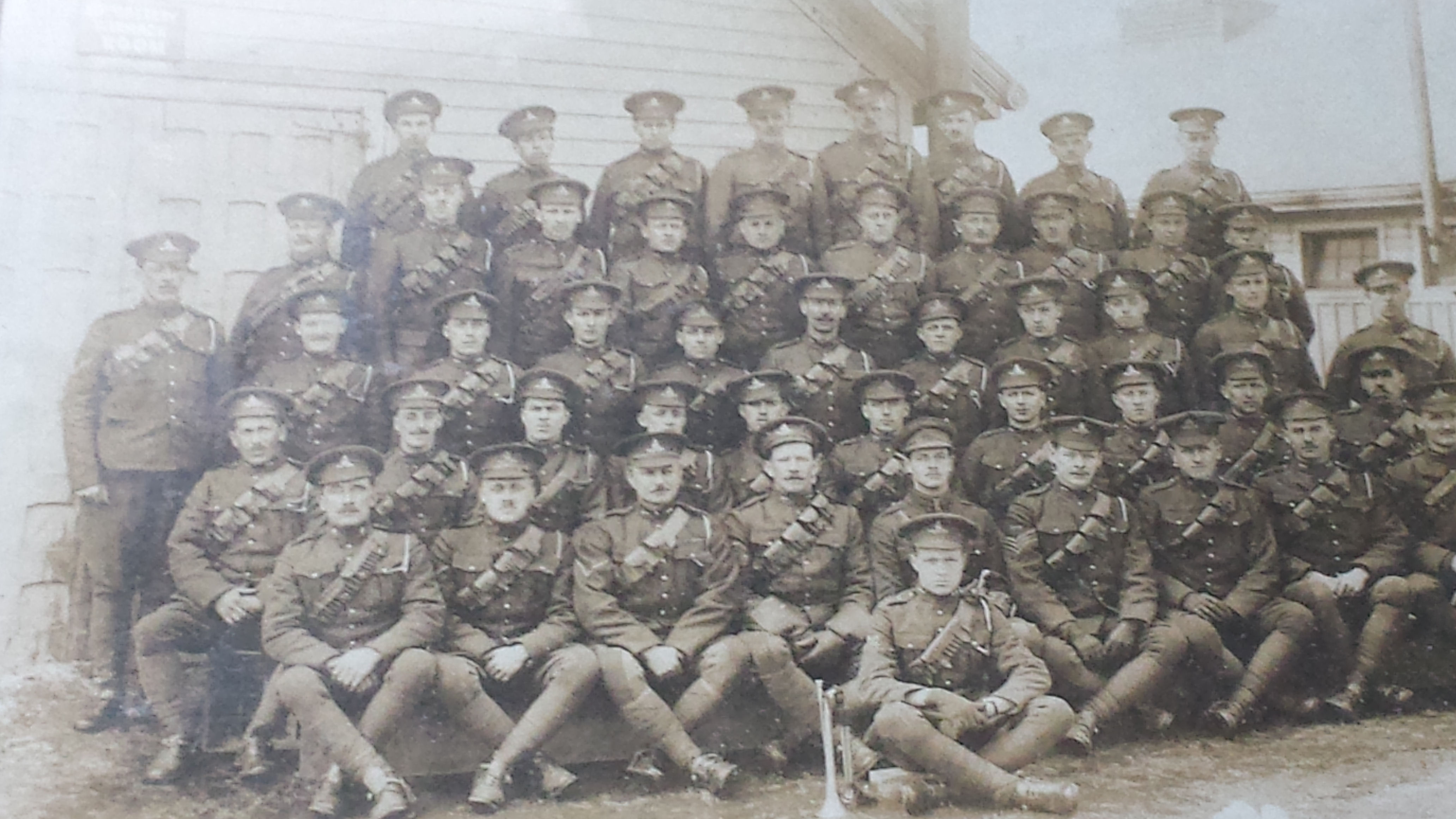 Group Photo– John Randall Painter second from the end bottom row right hand side next to man with flag, I think its only right if I put some history back into the world today, something we couldn't see or something we didn't know,  kami