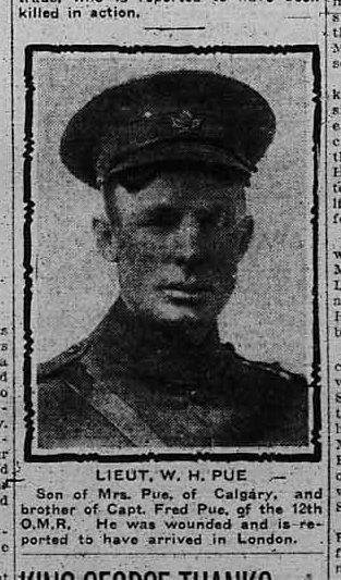 Newspaper Clipping– Photo from The Calgary Daily Herald June 6, 1916.