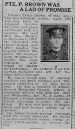 Newspaper Clipping– THE MORNING BULLETIN. EDMONTON ALBERTA FRIDAY MAY 4. 1917