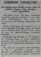 Newspaper clipping– From the Daily Colonist of February 27, 1915. Image taken from web address of https://archive.org/stream/dailycolonist57y68uvic#mode/1up