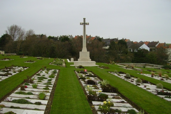 Cemetery– Cross of Sacrifice - Wimereux Communal Cemetery … photo courtesy of Marg Liessens