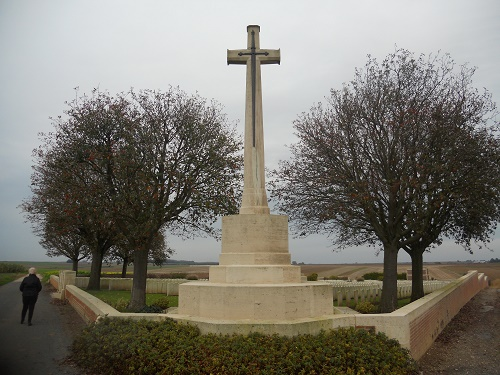Cross of Sacrifice– Photos from visit to uncle James gravesite, October 2014, France
