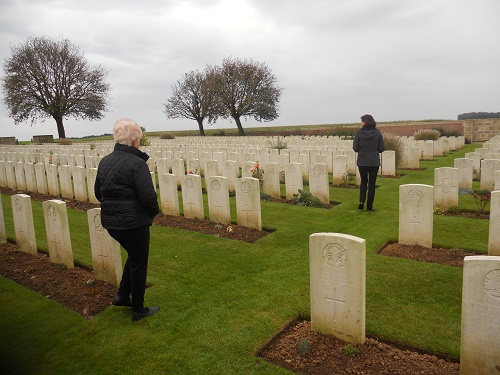 Cemetery– Visit to uncle James gravesite in France October 2014