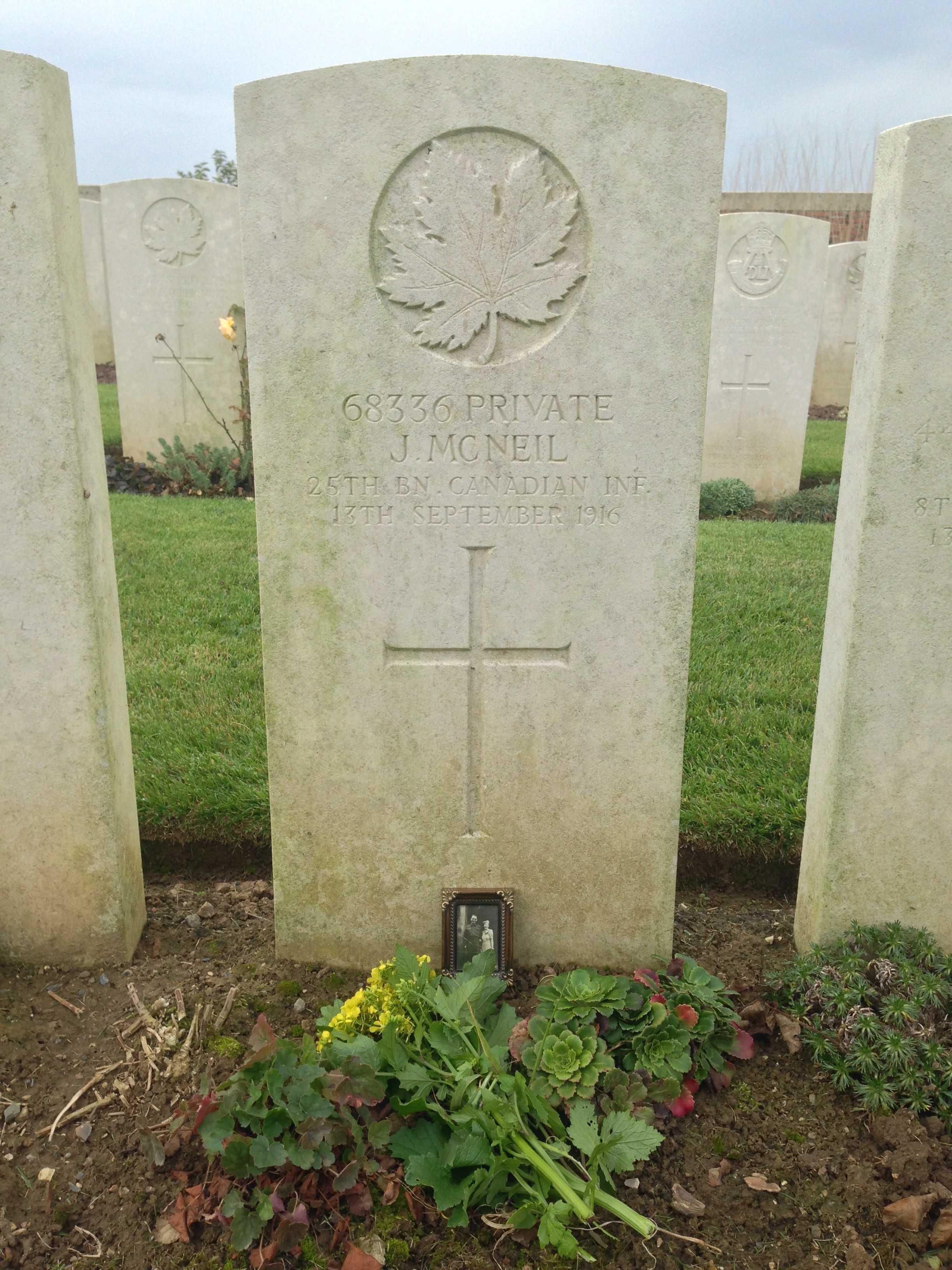 Grave marker– Visit to uncle James gravesite in France October 2014