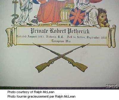 Certificate de service - Première Guerre mondiale (bas)