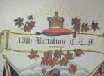 Certificate de service - Première Guerre mondiale (haut)