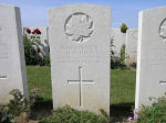 Grave Marker– Grave Marker of Hubert Henry Tuck in Puchevillers British Cemetery, France.  His brother's grave in Dersingham, UK, also records Hubert's death and burial in France.