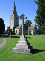 War Memorial– This is the War Memorial in St James's Churchyard at Quedgeley, Gloucestershire where Alan Beacall was born.
