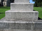 Inscription– Alan Beacall's name commemorated on the Memorial.  He was serving in the Royal North West Mounted Police at the time of his enlistment at Regina on 6th April 1917.