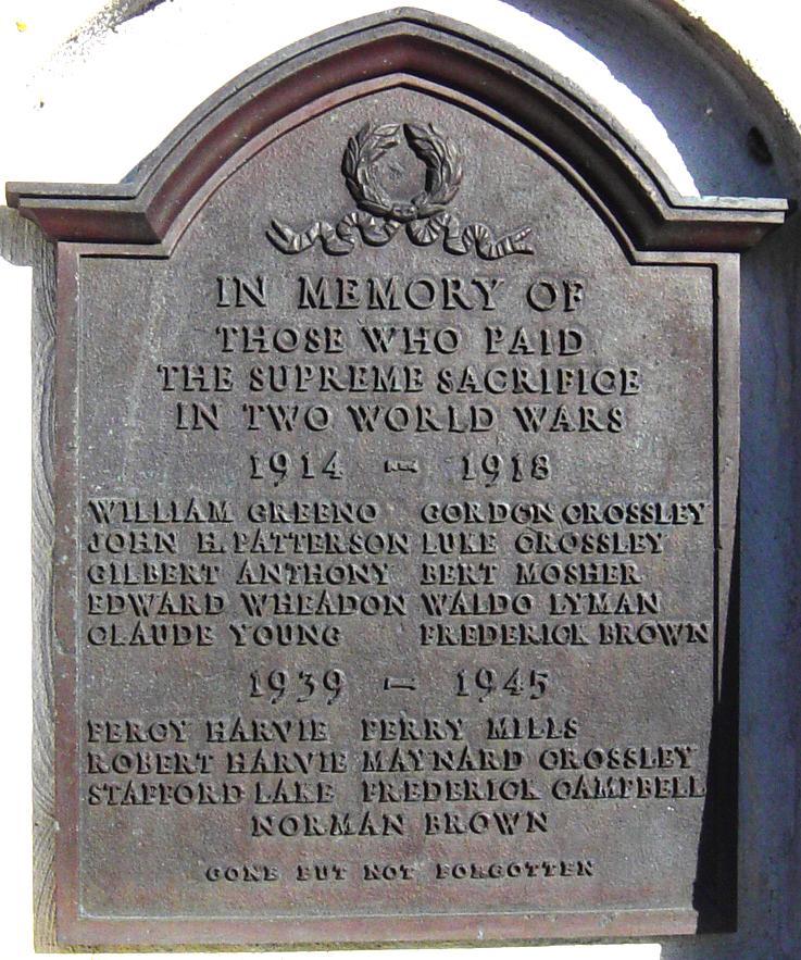 Memorial– Brammer war memorial