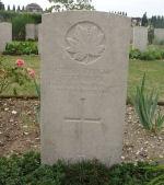 Grave Marker– Frank Kinlock (Kinloch) - St Sever Cemetery, Rouen, France