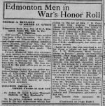 Newspaper article– The Morning Bulletin 11 October 1916