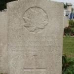 Grave Marker– Grave Marker for Gunner Thomas Anderson Kinnaird # 87190 - St Sever Cemetery, Rouen, France