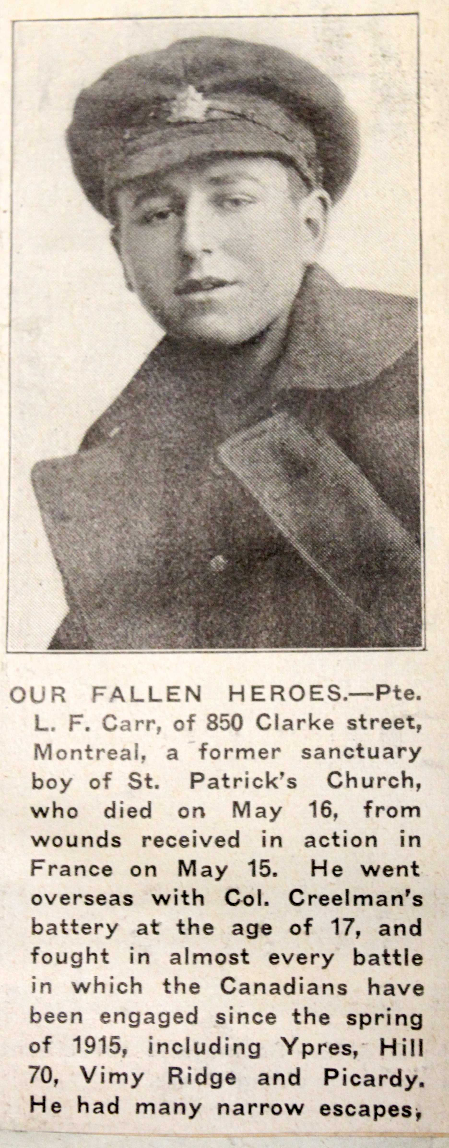 Newspaper Clipping– Submitted for the project Operation Picture Me. From the Annie Boyes collection courtesy of the Simcoe County Archives. http://www.simcoe.ca/dpt/arc