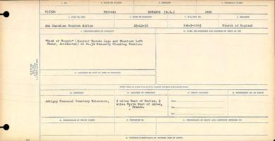 Circumstances of death registers– Private John Edwards