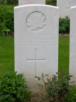 Grave Marker– Private Harold Kenneth Hartley Grave Site, Aubigny Communal Cemetery  Photo from the Maple Leaf Legacy Project