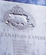Calgary Soldiers Memorial– Hescott, J.W., MM  - his place on the Calgary Soldiers Memorial in Calgary, Alberta