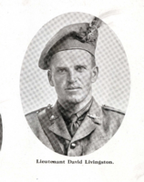 Photo of DAVID LIVINGSTONE– In memory of the men who joined the 185th Battalion (Cape Breton Highlanders) who went to war and did not come home. Submitted for the project, Operation Picture Me