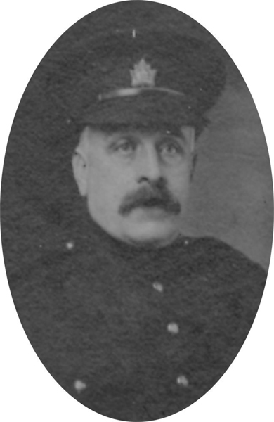 Photo of JAMES ERNEST BEAVEN– From a collage photo layout of members of A Company and the bugle band of the 157th Canadian Infantry Battalion.