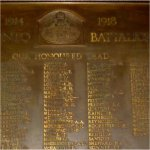 Commemorative Plaque– WWI Memorial Plaque for the 204th (Beavers) Battalion located in Old City  Hall, Queen St., Toronto, Ontario.