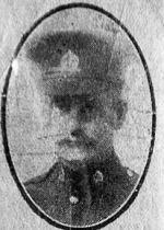 Newspaper Clipping– Newspaper caption and memorial silk relating to William Perkins