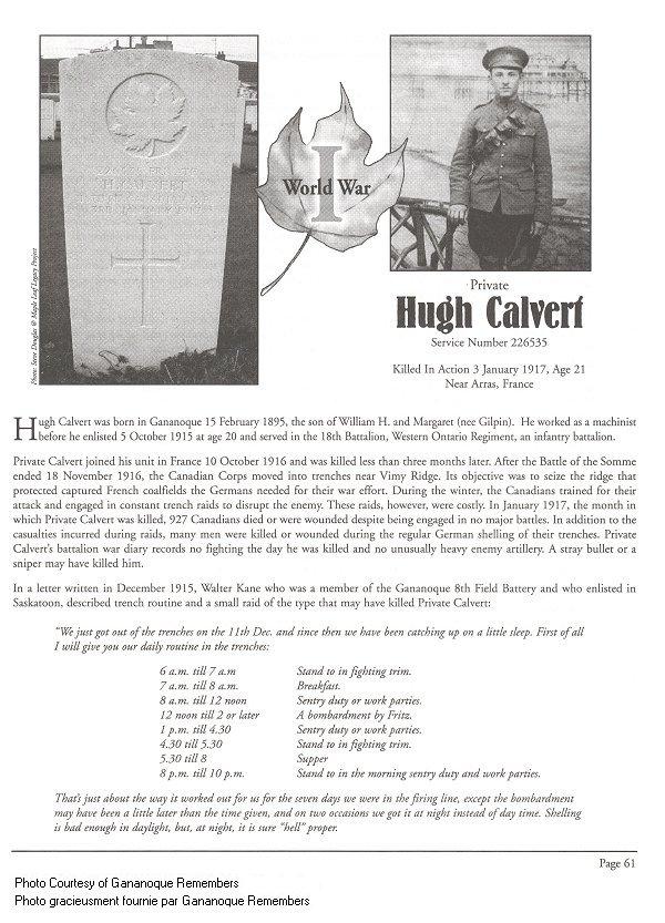 Page Commémoratif