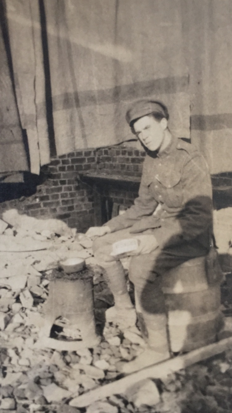 Photo of Thomas James Gorman– A picture taken in France of Thomas Gorman that he sent home in a letter to his youngest sister Elizabeth.