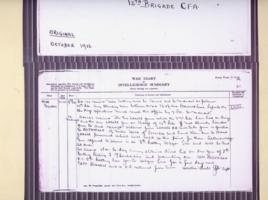 Document– Battalion record of October 12th 2016.