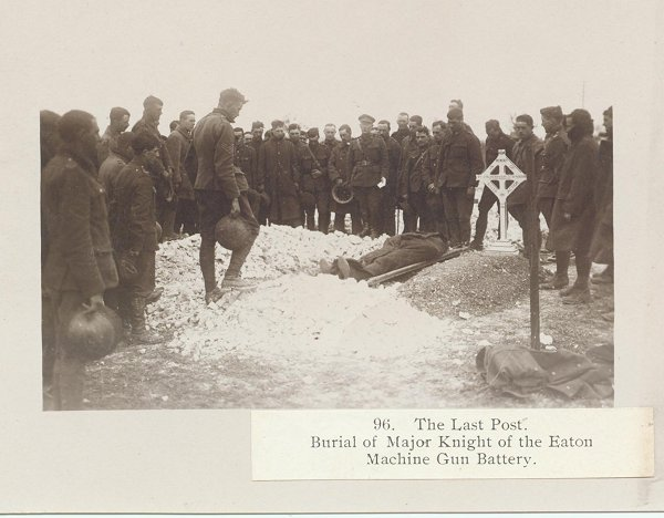 Burial of Major Edward Knight
