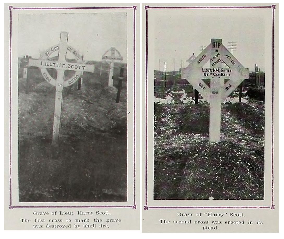 Temporary Grave Marker– original marker and the one that replaced the first one due to shell fire