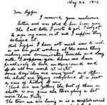 Letter– Letter from David Young to his sister Lizzie [Elizabeth McCallum, nee Young]