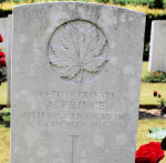Grave Marker– Grave of Archibald Prince at Roclincourt Cemetery