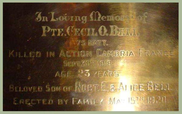 Memorial Plaque (2)