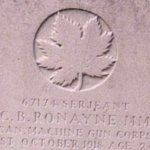 Grave Marker– Grave Marker, Canada Cemetery, Tilloy-des-Cambrai, France