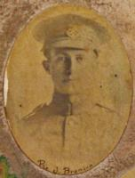 Photo of John Branion– John Branion - photo taken from a poster that was created soon after the end of WWI to honour Aylmer and Malahide's fallen