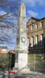 Memorial– Arthur Chaplin attended Derby School (founded 1554) and this memorial commemorates its pupils who fell in both World Wars.  It stands in front of St Helen's House (built 1767) in Derby which housed the School from 1863 to 1968.