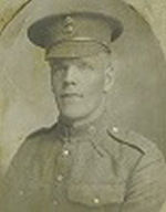 Photo of James Harrison– Pte James Harrison (service # 216761 KIA June 1, 1917 ) then residing in Portage la Prairie, MB, married 16th Nov 1912 to N Saunders left behind 3 daughters.