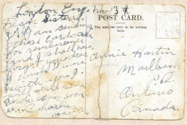 Back of Post Card