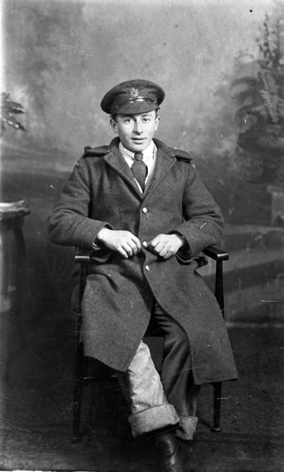 Photo of Thomas Wellsley Smith– Thomas Wellsley Smith born 30 March East Baccaro, Shelburne, Nova Scotia. Killed in action at Mericourt, Somme, Picardie, France on 15 October 1917. He is buried in La Targette British Cemetery, Neuville-St. Vaast, France.
