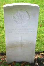 Grave Marker– A photograph of the headstone at the Petit-Vimy Cemetery, near Vimy Ridge and the town of Vimy, France. May he rest in peace.(J.Stephens)