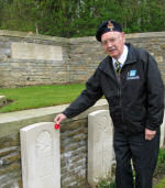 Paying Respects– Jimmy's nephew, Frank Morrison (85 years old), made his first pilgrimmage to Vimy Ridge to commemorate the 95th anniversary of the Battle at Vimy Ridge. Frank is the first member of his family (other than Jimmy's parents) to visit Jimmy's grave. What an amazing moment!