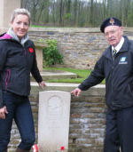 Group photo– Three generations - Frank Morrison and his granddaughter, Kristen Smith, visited Le Petit Vimy cemetery to pay their respects to their relative, James (Jimmy) Morrison, 95 years after the Battle at Vimy Ridge.